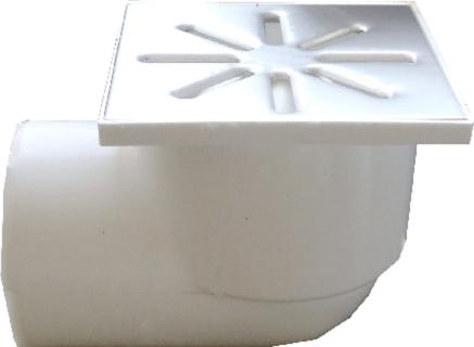 Трап канализационный Ø110 боковой, c нержавеющей решеткой 150x150 мм