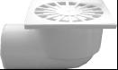 Трап канализационный Ø110 боковой, c пластиковой решеткой 150x150 мм