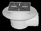 Трап канализационный Ø110 боковой c регулируемой высотой, манжетой, нержавеющей решеткой 150x150 мм