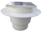 Трап канализационный Ø110 прямой c регулируемой высотой, манжетой и нержавеющей решеткой 150x150 мм