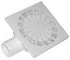 Трап канализационный Ø50, боковой, c пластиковой решеткой 150x150 мм
