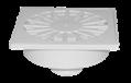 Трап канализационный Ø50 прямой c пластиковой решеткой 150x150 мм