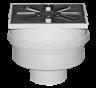 Трап канализационный Ø50, прямой c регулируемой высотой и нержавеющей решеткой 100x100 мм