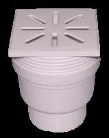Трап канализационный прямой Ø110 с регуляцией высоты, пластиковой